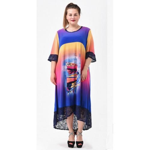 Платье летнее Восход Солнца
